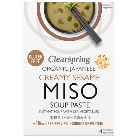 Suppebaser Clearspring Instant Miso Suppe Cremet Sesam Økologisk GA00204