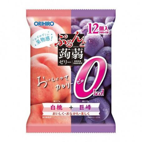 Slik Orihiro 0 Calorie Konjac Jelly Peach & Grape RL02029