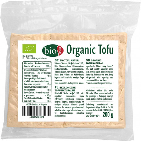 Tofu BioAsia Extra Firm Økologisk Tofu 200g BK08307