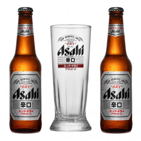 Øl Asahi Super Dry Gavepakke Klassisk Glas ASAHI-GAVEPAKKE