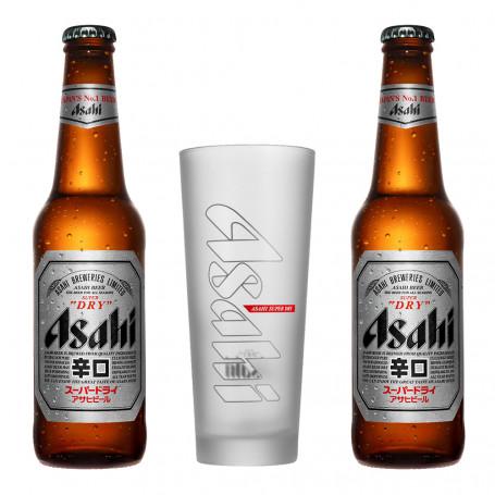 Øl Asahi Super Dry Gavepakke Frostet Glas ASAHI-GAVEPAKKE-FROST