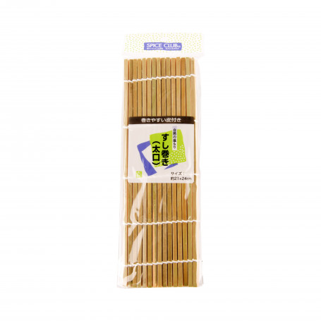 Bambus Sushi Makisu Bambusmåtte med store pinde 21x24cm VC50202