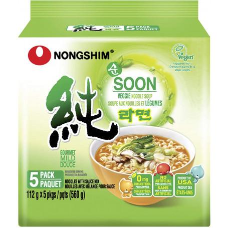Instant nudler Nongshim Shin Soon Veggie Ramyun Instant Nudler 5-pak AC08246