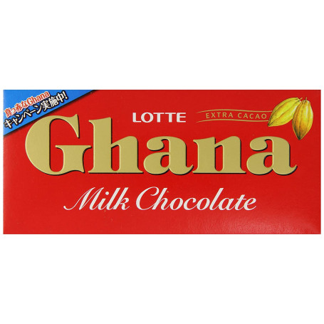Slik Lotte Ghana Milk Chocolate 50g RH72955