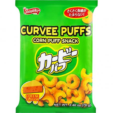 Chips og snacks Shirakiku Curvee Corn Puffs Cheese RG00190