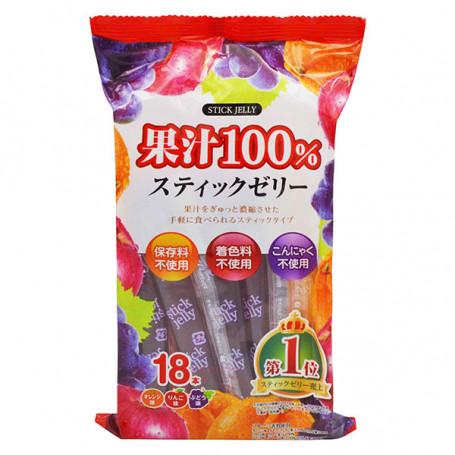 Slik Ribon Jelly Sticks Juice 100% - 18 stk RL09014