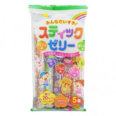Slik Ribon Minna Daisuki Jelly Sticks Fruit Flavor 5 stk RL09015