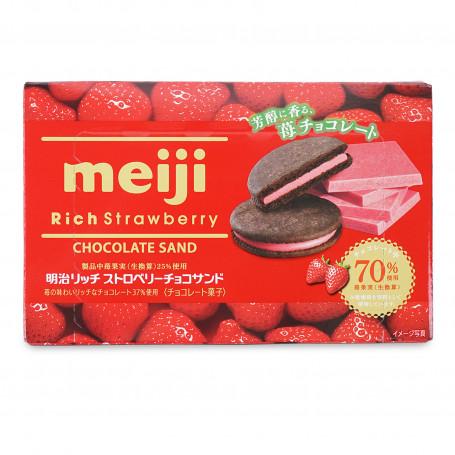 Slik STOP MADSPILD - Meiji Rich Strawberry & Chocolate Biscuits RM44001