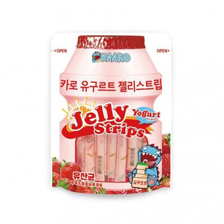 Jelly Slik Kaaro Jelly Strips Jordbær & Yoghurt 600g RL09074