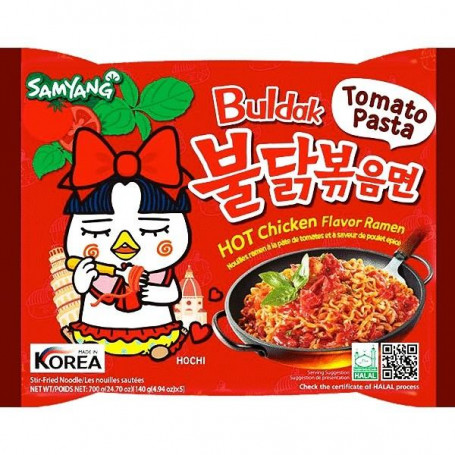Instant nudler Samyang Hot Chicken Tomato Pasta Ramen Instant Nudler AC30008