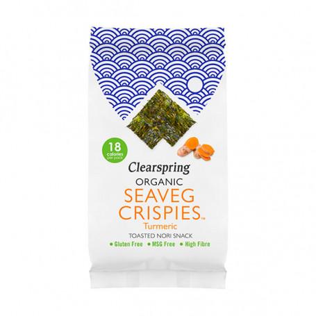 Slik & snacks Seaveg Crispies Gurkemeje - Økologiske Tang Chips PC00575