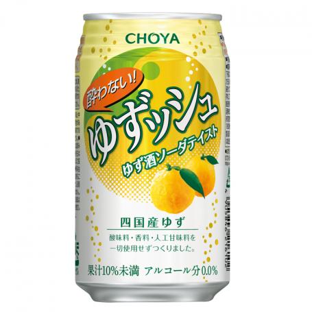 Læskedrikke Choya Yuzushu Non-Alcohol Soda 350ml QE80191