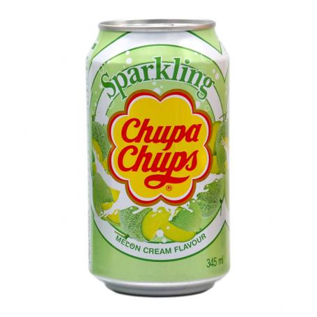 Læskedrikke Chupa Chups Melon & Cream Sodavand 345ml QN46001