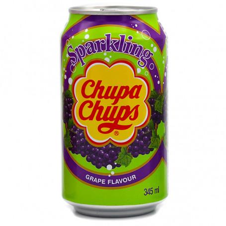 Læskedrikke Chupa Chups Grape Sodavand 345ml QN46004