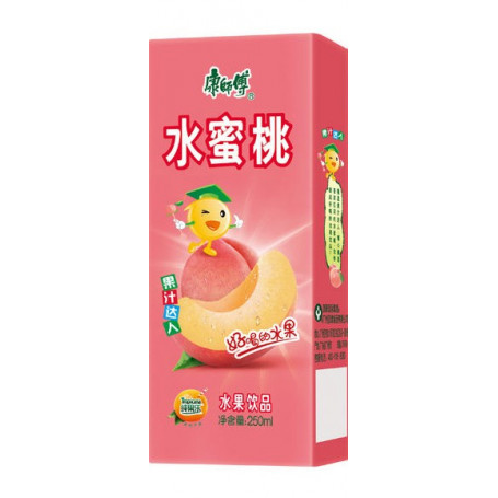 Læskedrikke Peach Juicebrik 250ml QF08096