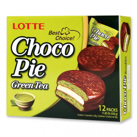 Kage Lotte Choco Pie Green Tea 12 stk RM20201