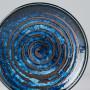 Tallerkener Japansk Keramik Frokost Tallerken 17cm Blå Kobber Hvirvel VHC8073