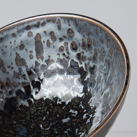 Skåle Japansk Keramik Udon Skål 20cm Sort Perlemor VHC2443