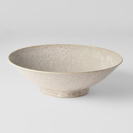 Skåle Japansk Keramik Ramen Skål 25cm Rustik Hvid VHC0668