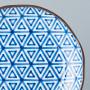 Tallerkener Japansk Keramik Tallerken 23cm Indigo Trekanter VHC6560A