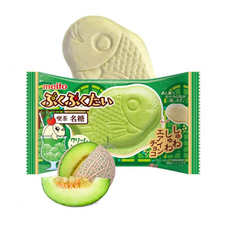 Slik Meito PukuPuku Taiyaki Melon Cream Soda Fisk RN80322