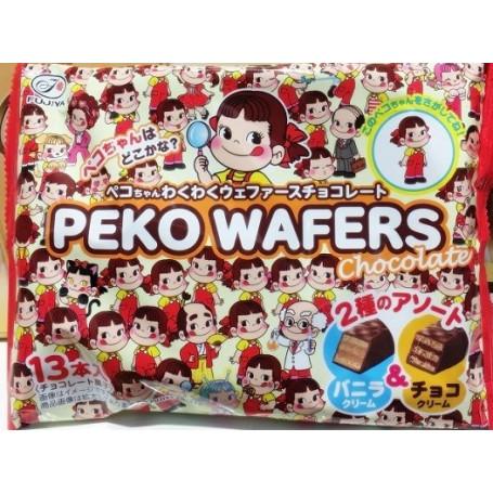Slik Fujiya Peko-Chan Chocolate & Vanilla Wafers RM80291