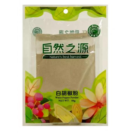 Tørrede krydderier Hvidt Peber Stødt 50g JE01131