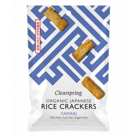 Chips og snacks Clearspring Tamari Rice Crackers 50g Økologisk RD00101