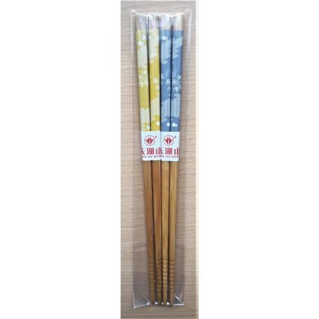 Spisepinde Tian Hu Shan Spisepinde SD Design 22,5cm - Grå & Gul VA72875-GRÅ-GUL