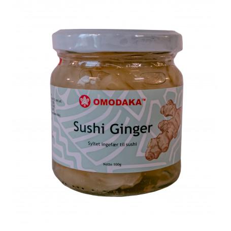 Ingefær STOP MADSPILD - Premium Gari - Syltet ingefær til sushi i glas 100g FF00500