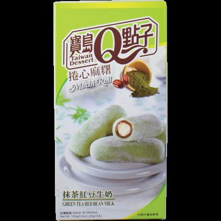 Slik He Fong Green Tea Red Bean Milk Mochi Roll 150g RN71059