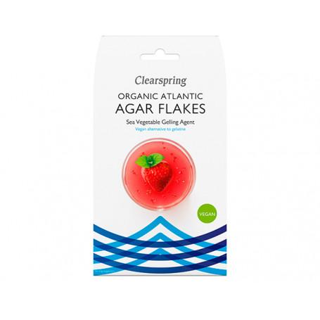 Tang Clearspring Agar flager - økologisk vegansk geleringsmiddel af tang BX00802