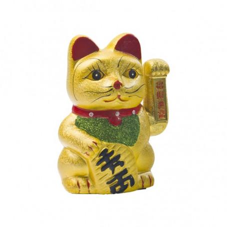 Tilbehør Maneki Neko 17,5cm - vinkende kat i porcelæn VZ18636