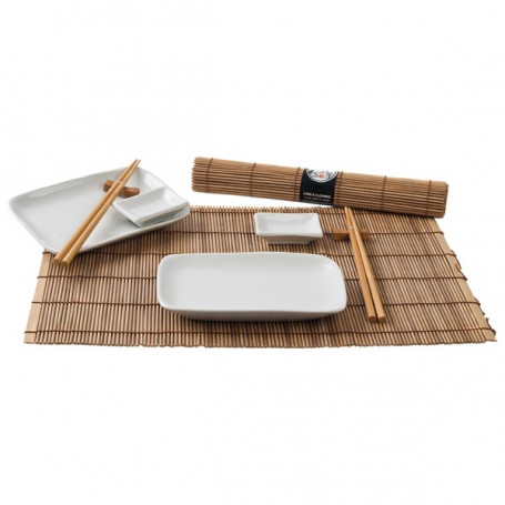 Service Sushi serveringssæt til 2 personer - brun VF19388