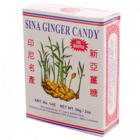 Slik Sina Ginger Candy - Ingefærslik 56g RL01249