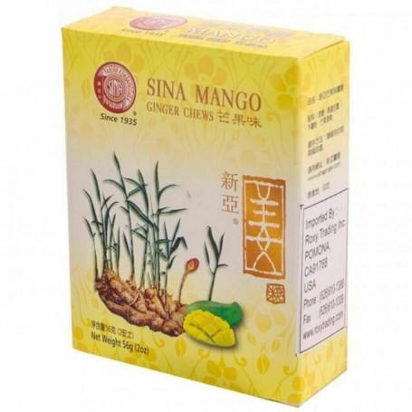 Slik Sina Ginger Candy Mango - Ingefærslik med mangosmag 56g RL08002