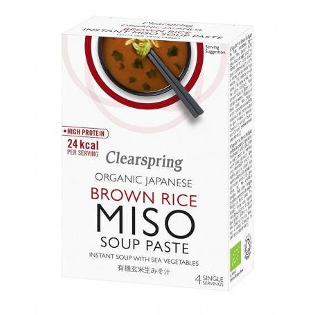 Suppebaser Clearspring Instant Brown Rice Miso Suppe Økologisk GA00492