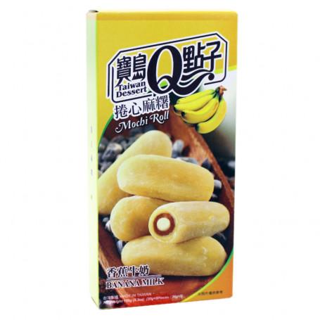 Slik He Fong Banana Milk Mochi Roll 150g RN27011